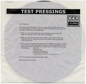 Demdike Stare - Test Pressing