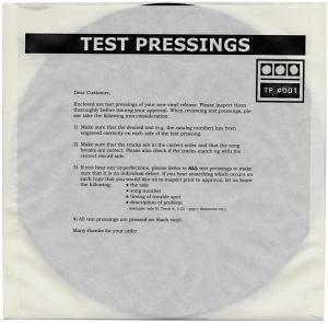 Demdike Stare - Test Pressing