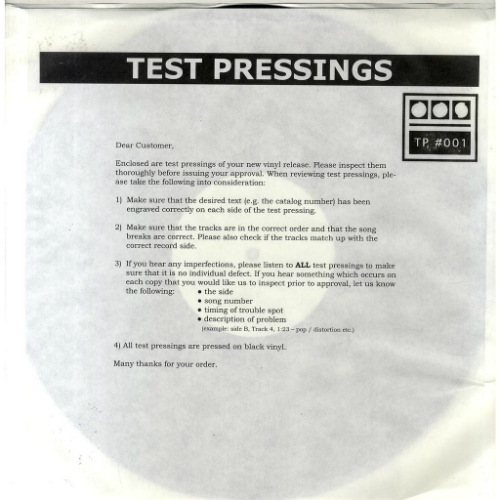Demdike Stare - Test Pressings 001-004 Modern Love