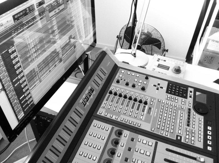 In the studio with Luke Howard (controller)