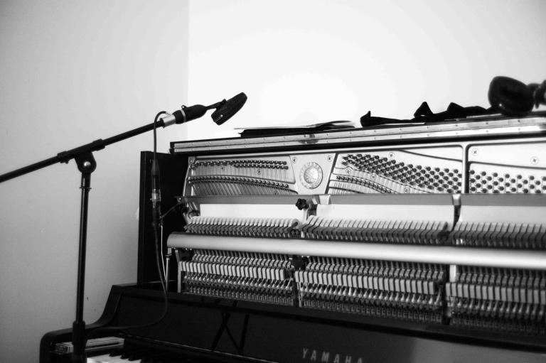 In the studio with Luke Howard (piano)