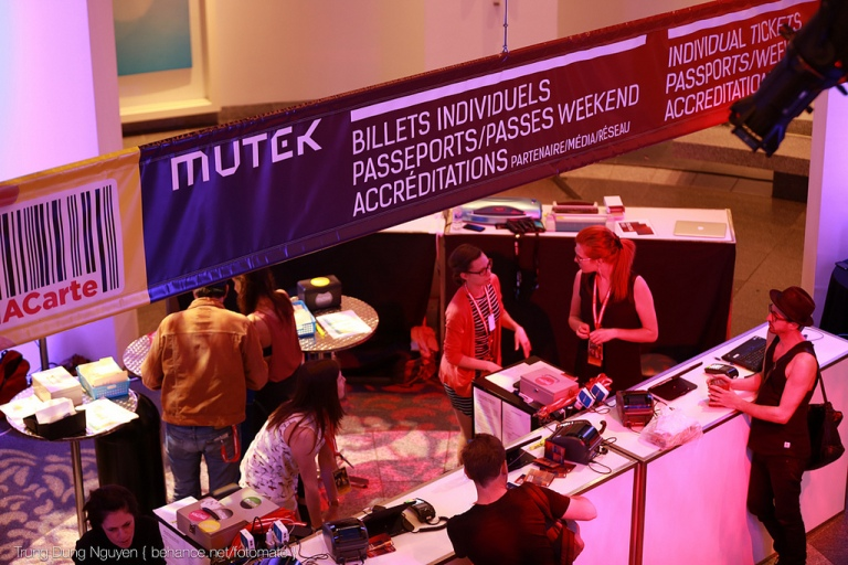 Mutek Passport Booth
