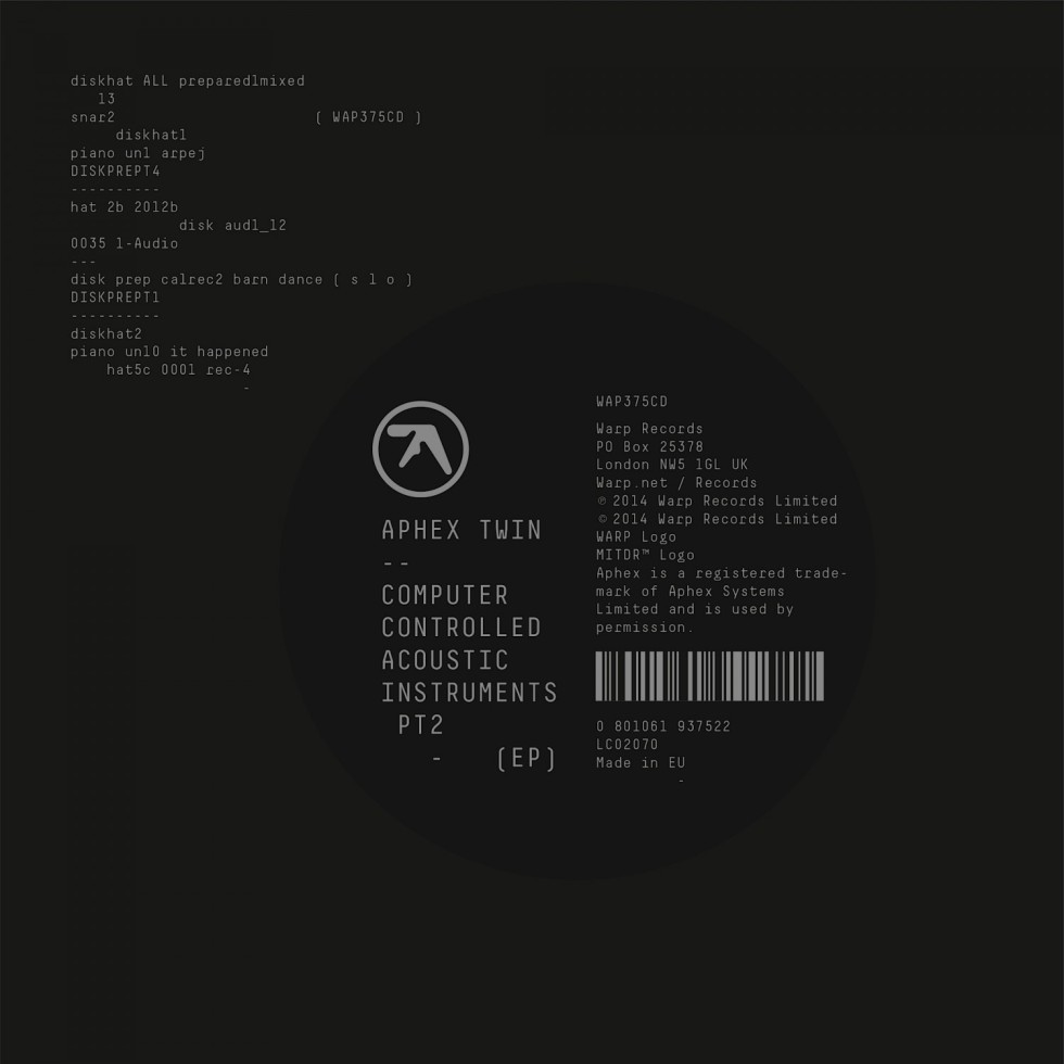 Aphex Twin - Computer Controlled Acoustic Instruments Pt2